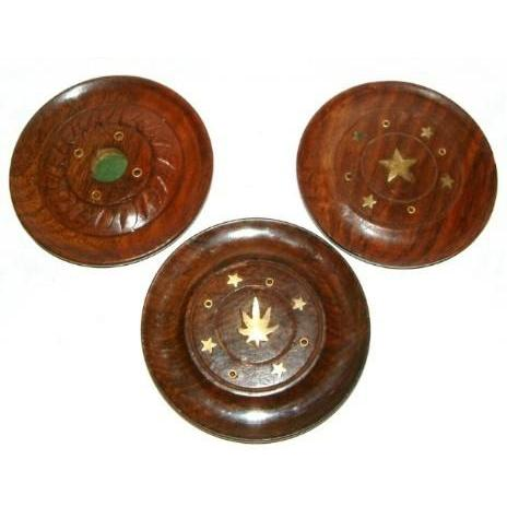 Incense Holder Wooden Disc
