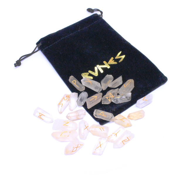 Small Quartz Point Runes Set