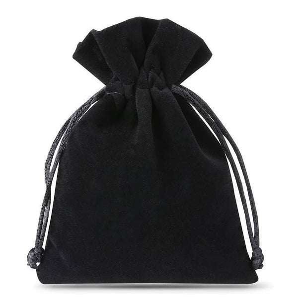 Medium Black Velvet Bag (10x13cm)