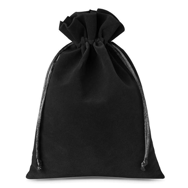 Large Velvet Bag (15x20cm) - Black