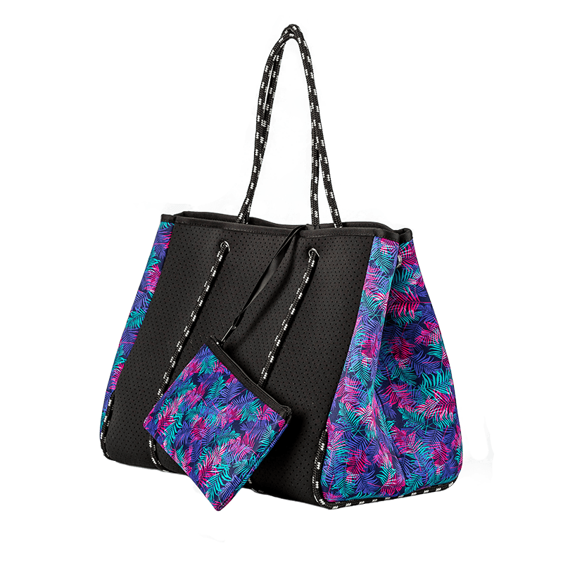 Black with Summer Breeze Neoprene Bag
