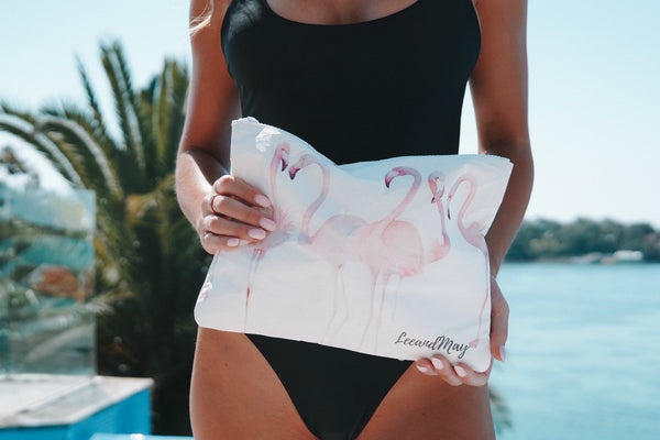 Travel Pouch | Wet Bag | Flamingo
