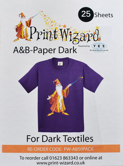 Wizard Laser Dark No-Cut A+B, Low Temperature, Paper A3, Pack of 25