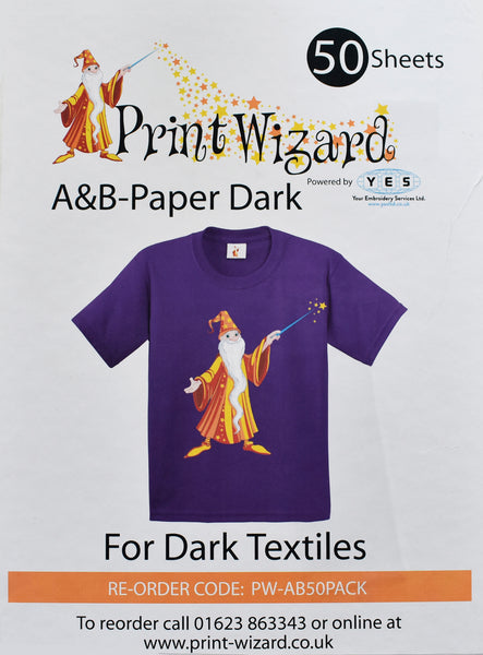 Wizard Laser Dark No-Cut A+B, Low Temperature, Paper A3, Pack of 50