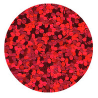 RED - Holographic Spangle THS204 (70mtr x 6mm Tape)