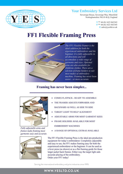 YES Flexible Embroidery Framing Press (FF1)