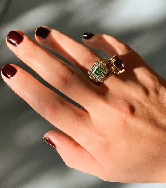 Vintage Emerald Art Deco Ring