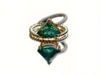 Green Tourmaline Twist Ring