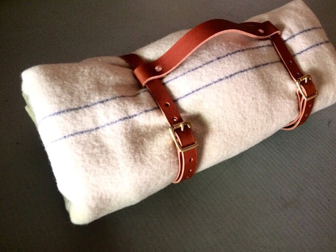 Hand-made Leather Blanket Straps