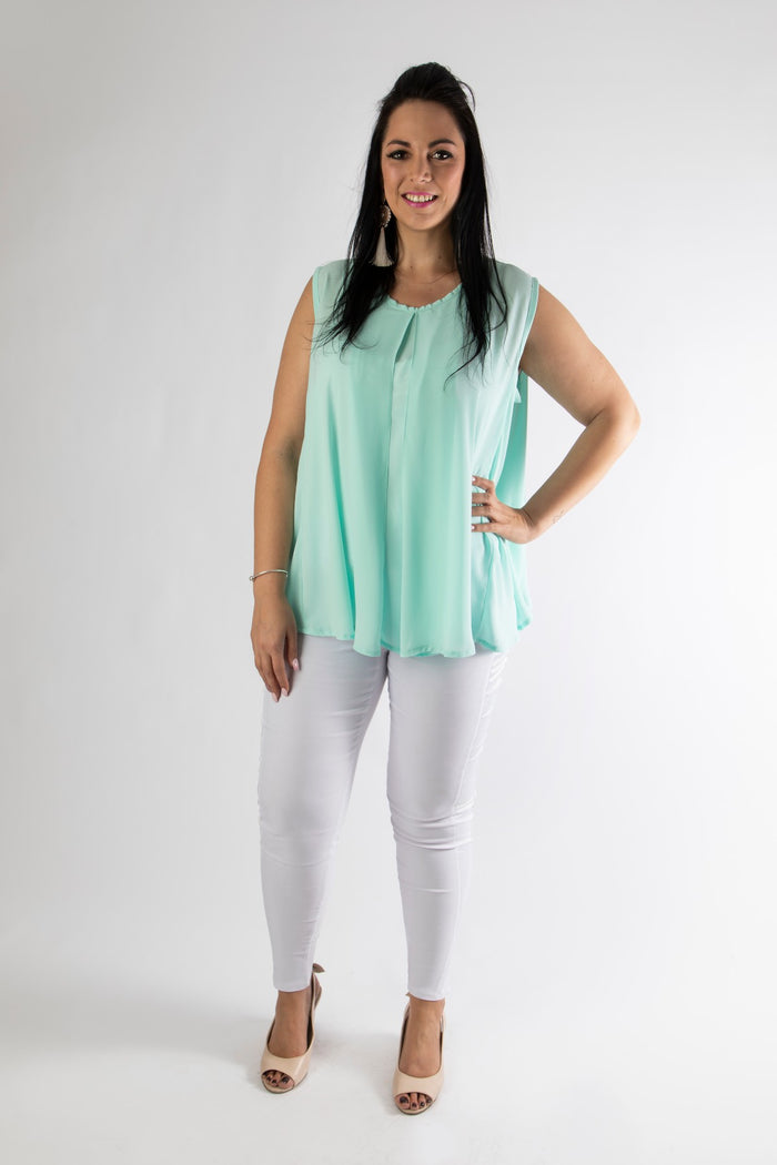 EMILY CORPORATE LENGTH TOP - AQUA