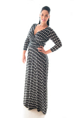KATHRYN MAXI DRESS - GEO PRINT