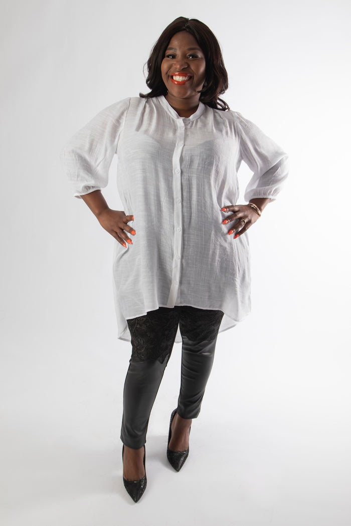LINCOLN BLOUSE - WHITE