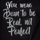 BASIC T-SHIRT – BLACK W. BE REAL PRINT