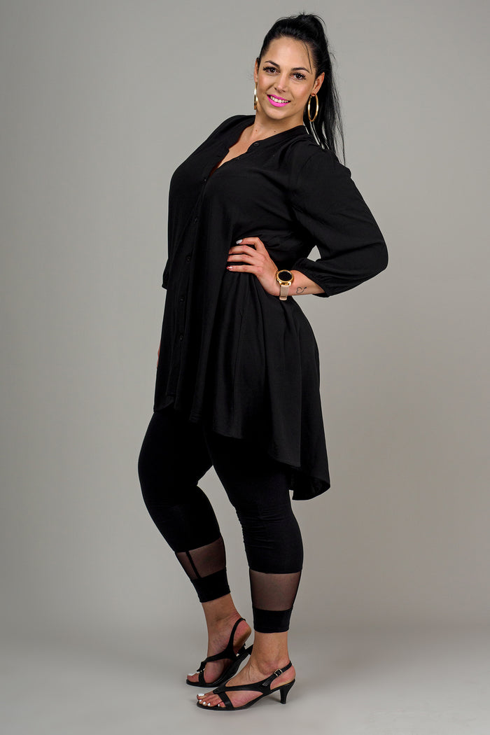 LINCOLN BLOUSE - BLACK