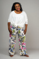 WIDE STRAIGHT LEG – FLORAL ON WHITE