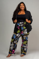 WIDE STRAIGHT LEG – FLORAL ON BLACK