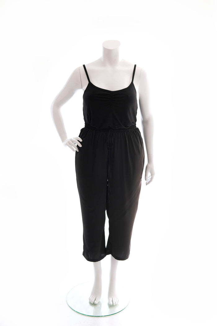 PJ PANTS SATIN ¾ LENGTH - BLACK