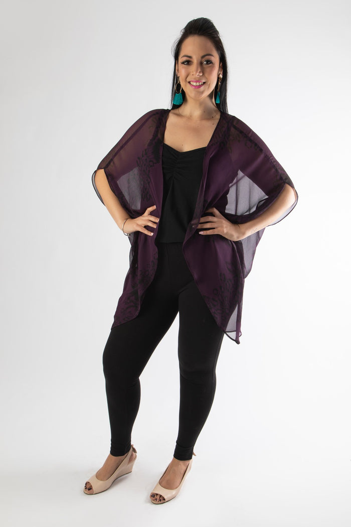 SCABROSA JACKET – DEEP PURPLE PRINT