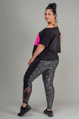 RHAPSODY ACTIVE LEGGINGS - SILVER/BLACK