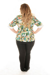 back view of a model in our albertine summer jacket