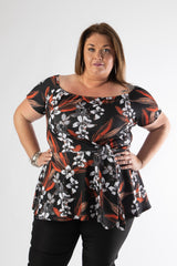 plus size model in our emma top