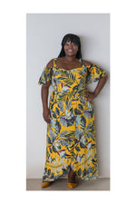 GEMMA DRESS – YELLOW FLORAL