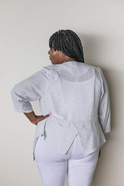 CHARLOTTE  JACKET– GREY PEBBLE