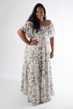 SOPHIA MAXI DRESS – WHITE FLORAL PRINT
