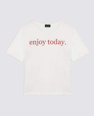 Camiseta enjoy today blanca