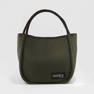 Bolso shopper nylon kaki