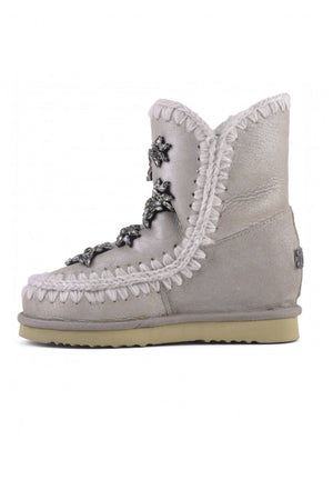 Botas MOU Inner Wedge Short Crystal Stars