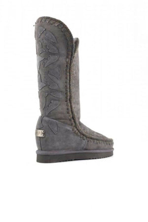 Botas MOU Eskimo Inner Wedge Tall Leather Patches