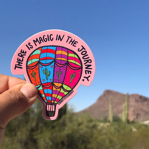 there is magic in the journey sticker
