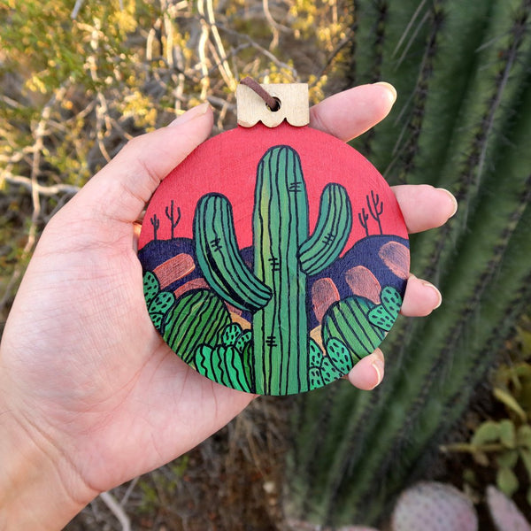 Hand Painted Item Held Outside Front