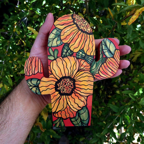 Hand Painted Item Held Outside