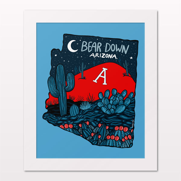 Art Print - Bear Down Arizona