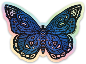 Holographic Sticker - Blue Butterfly (Online Exclusive!)