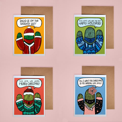 Holiday Card Set - Cactus