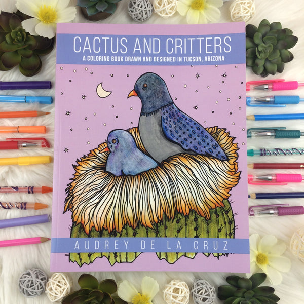 Cactus and Critters Coloring Book