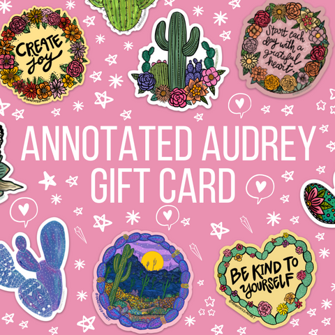 Annotated Audrey Gift Card
