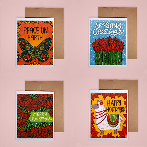 Holiday Card Set - Floral