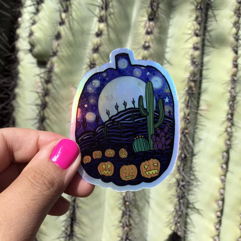 Holographic Sticker - Desert Pumpkin Patch (Online Exclusive)