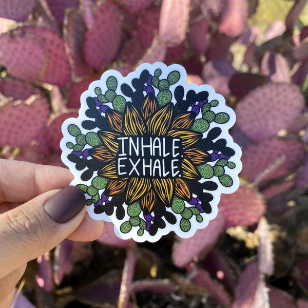 Sticker - Inhale. Exhale.