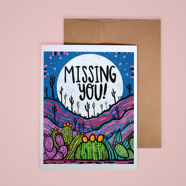 Card - Missing You Pink Desert