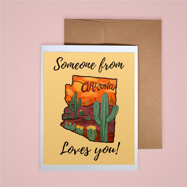 Card - Someone From AZ Loves You