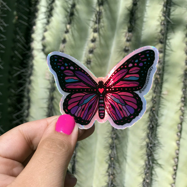 Holographic Sticker - Pink Butterfly (Online Exclusive)