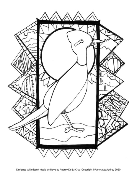 FREE PRINTABLE - Roadrunner Coloring Page