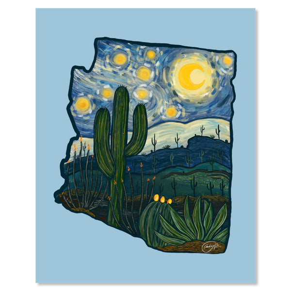 Art Print - A Starry Night In Arizona