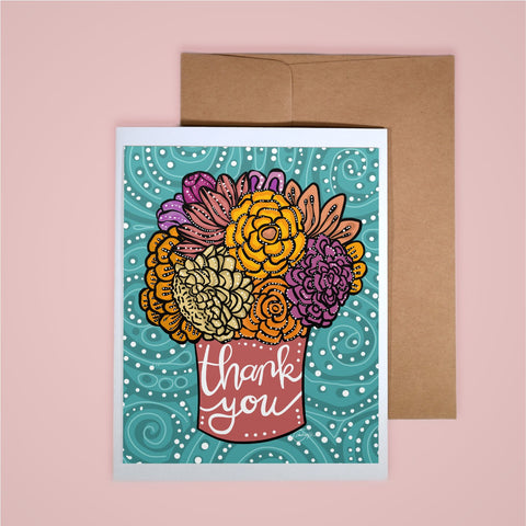 Card on white background