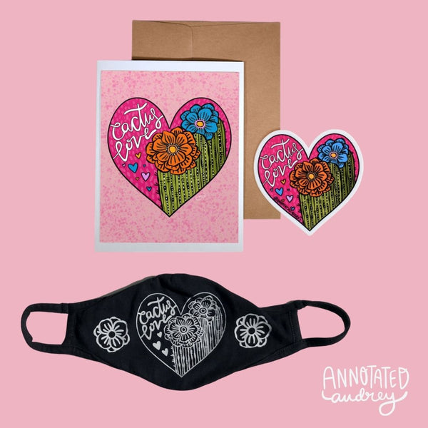 Cactus Love Mask Gift Bundle